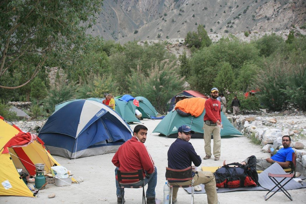 K2 Base Camp At Night From k2 base c